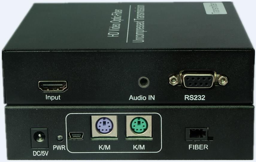北京美联互通科技有限公司ML211U-T/R是一套使用光纤传输高清HDMI视频的延长器设备,只需单纤就能将1080P信号进行远距离传输,支持音频、RS232、USB鼠标键盘传输;这套产品非常适用于大屏幕拼接、会议系统以及家庭娱乐等场景使用,该设备抗干扰能力极强,保证信号的稳定。 2. 产品特性 符合HDMI1.